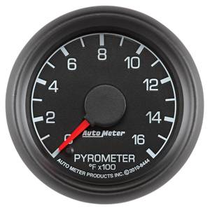 Autometer - Auto Meter Factory Match 2 Gauge Kit, Ford (1999-07) Super Duty, Black Face/Red Pointer/Green Lighting (35psi Boost, EGT) - Image 5