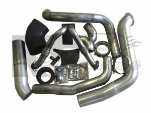 Turbos/Superchargers & Parts - Single Turbo Install Kits - Irate Diesel Performance - Irate Diesel T4 Complete Install Kit, Ford (1994-03) 7.3L Power Stroke (S366)