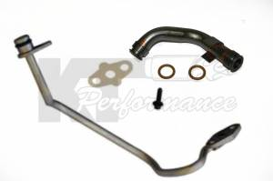 Ford Genuine Parts - Ford Motorcraft Turbo Oil Line Update Kit, Ford (2003-10) 6.0L Power Stroke Diesel (Drain Line [6C3Z-9T515-A] & Feed Line [3C3Z-9T516-A] - Image 2