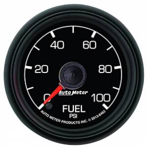 "2-1/16"" Gauges - Auto Meter Ford Factory Match - Autometer - Auto Meter Ford Factory Match, Fuel Pressure (8463), 100psi"